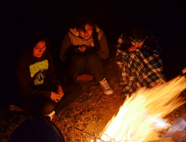 The girls made good use of the campfire to fully reflect on the difficulties of self care and taking care of siblings