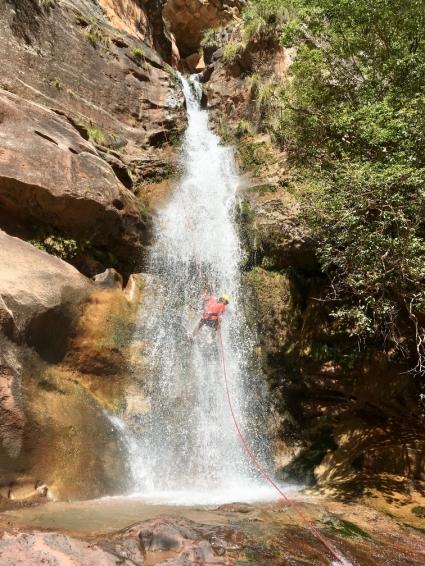 Alejandra waterfall rappel